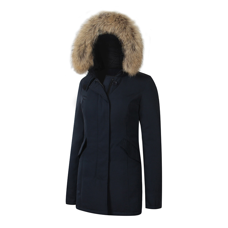 2018 Brand New Womens Windstopper Waterproof Arctic Duck Down Parka outdoor Thick Warm Winter Parka With removable raccoon fur parka miss furs parka