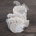 50pcs Cute Squirrel Laser Cut Cup Wine Glass Card Name Place Cards Wedding Birthday Party Decorations
