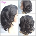 7а бразильский свободная волна Glueless отбеленные узлы человеческих волос фронта парик естественная линия фронта человеческих волос парики