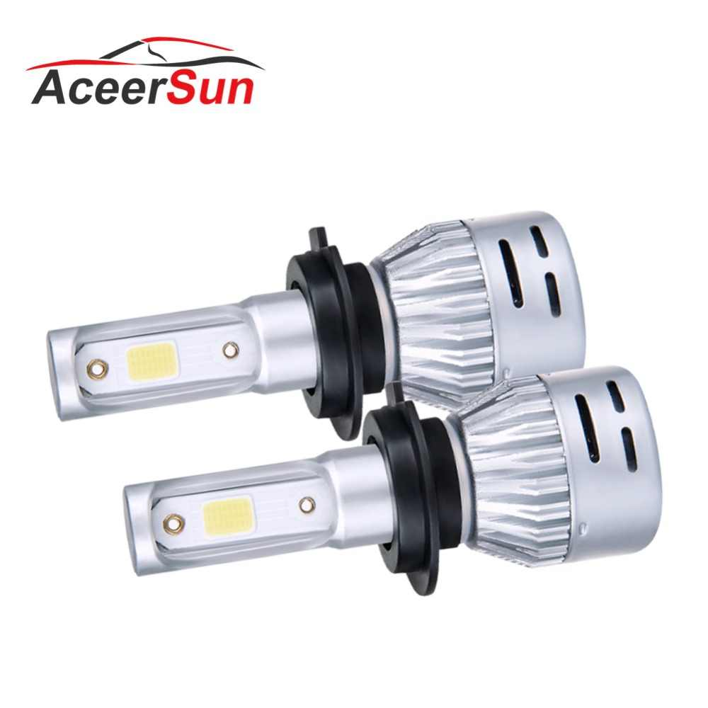 H4 LED Car Headlight H7 LED H4 H1 H11 H8 H9 9005 9006 HB3 HB4 12V Hi Lo Beam COB 8000LM 3000K 4300K 6500K 8000K Mini Auto lamp