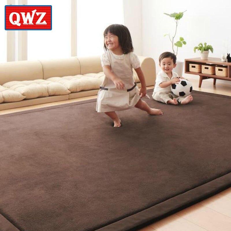 Nouveau 2 CM d'épaisseur bébé jouer jeu tapis corail polaire couverture tapis enfants bébé ramper Tatami tapis coussin matelas pour chambre