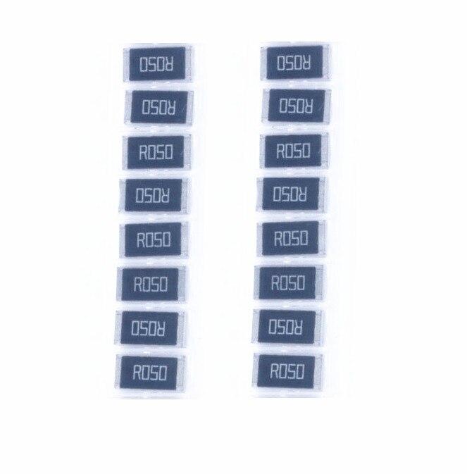 50 pcs 2512 SMD Resistor 1W 0.05 ohm 0.05R R050 1% 2512 Chip Resistor High Precision цена 2017