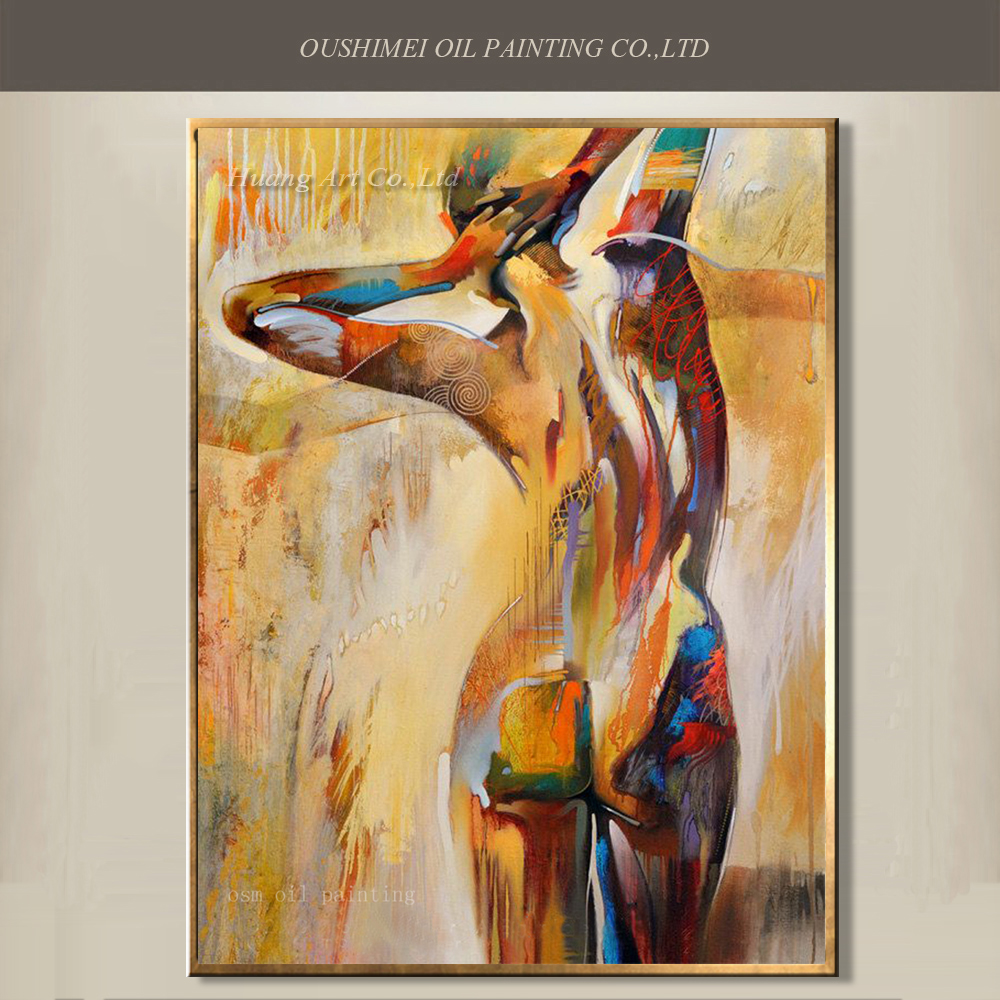 Top Selling Oil Painting Pure Hand Painted Nude Painting on Canvas for Wall Artwork Decor Man Sexy Back Nude Oil Painting