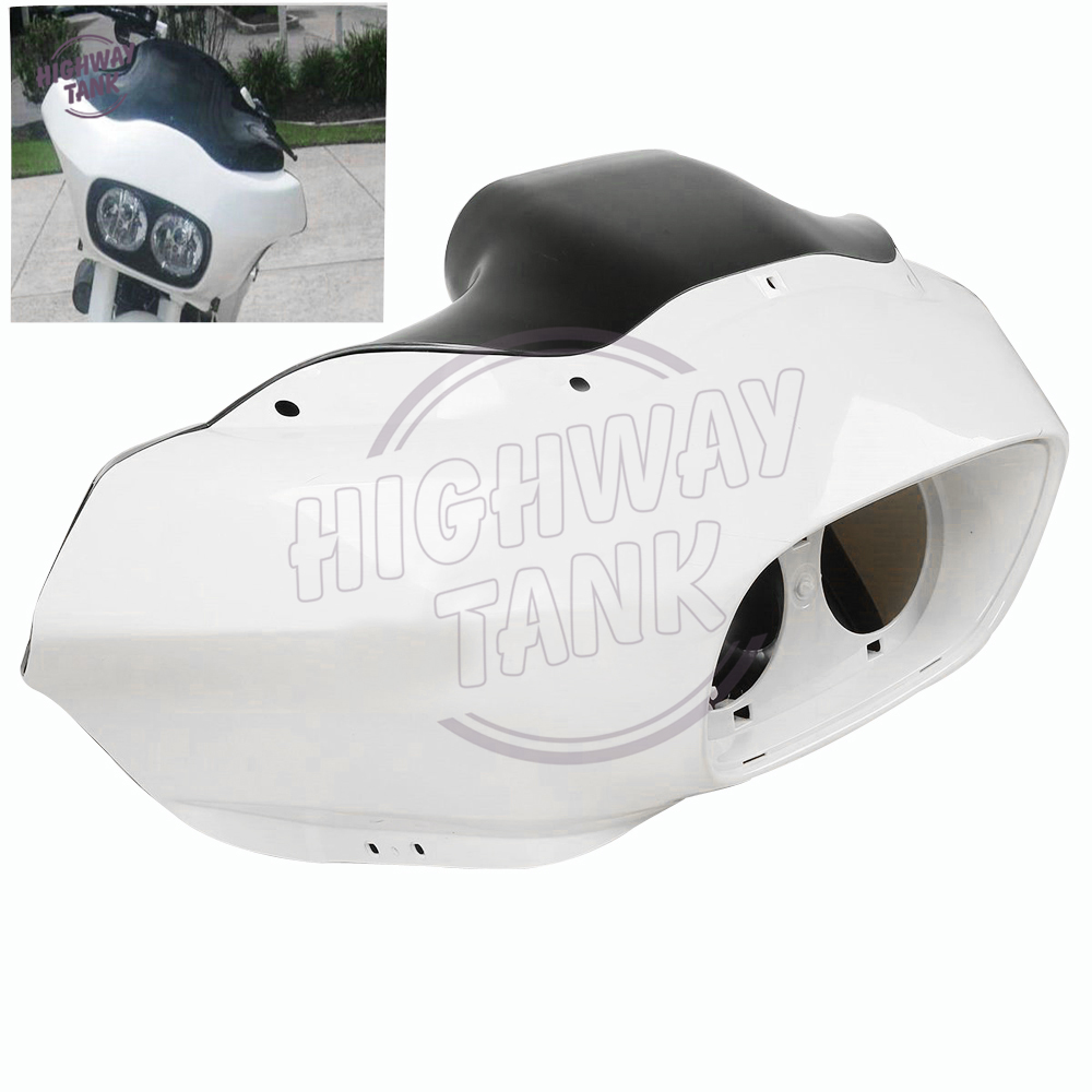Unpainted Injection ABS White Motorcycle Inner & Outer Fairing Moto Head Covers case for Harley Road Glide FLTR Custom