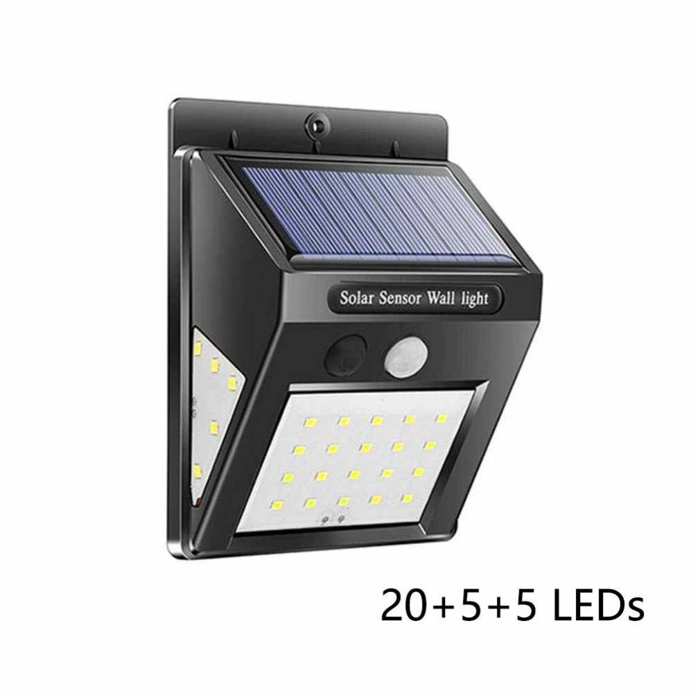 30 LED Solar Energy Lamp Brightness Human Body Sensor Induction 3-in-1 Lamp LJ
