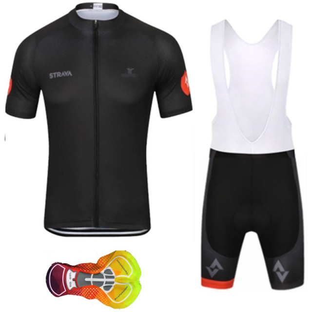 426500082 2019 Summer Strava New Cycling Jersey Short Sleeve Set Maillot Ropa  Ciclismo Uniformes Quick-dry Bike Clothing MTB Cycle Clothes