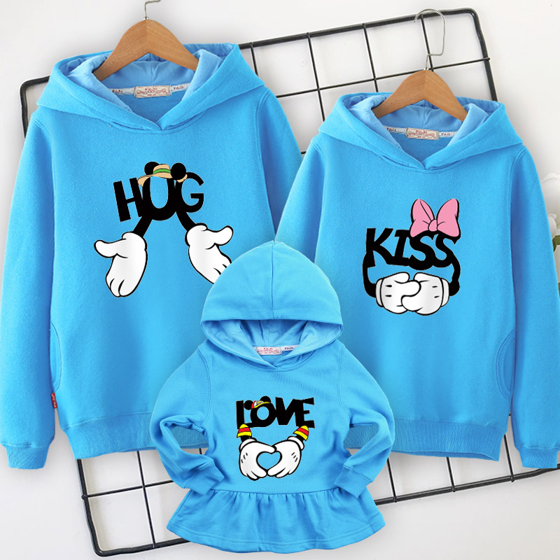 Image 5 - Family clothes family matching Hooded sweater 2019 spring  new mother daughter dresses  father and son mom and girl clothing-in Matching Family Outfits from Mother & Kids