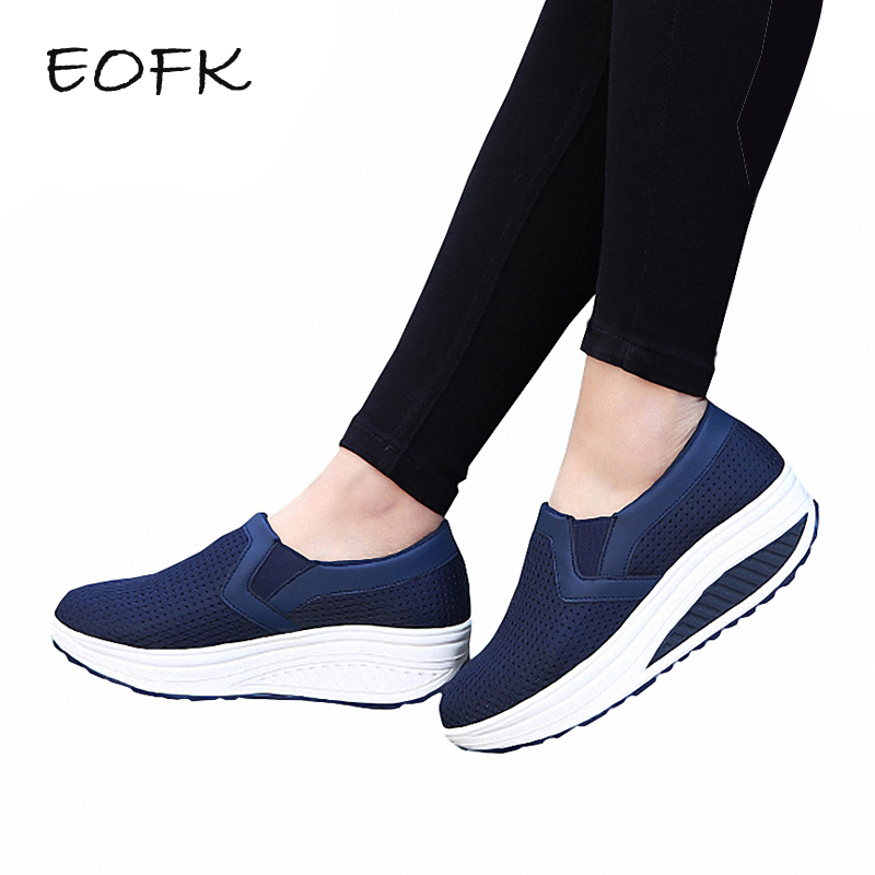 EOFK New Women Flats Platform Shoes Summer Breathable Mesh Casual Flat Shoes Woman Comfortable Womens Slip On Shoes Size 35-42EOFK New Women Flats Platform Shoes Summer Breathable Mesh Casual Flat Shoes Woman Comfortable Womens Slip On Shoes Size 35-42