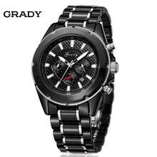 Грейди high grade мужчины мода & casual часы мужчины люксовый бренд мужчин наручные часы керамические мужчины часы