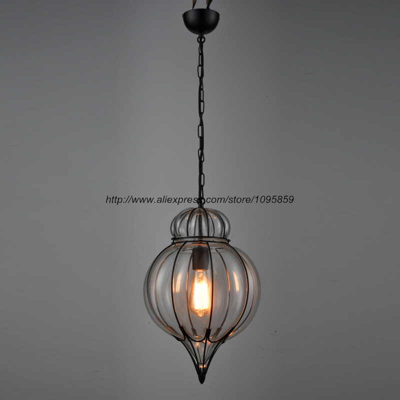 Industrial Glass Lamp Black Light Fixtures Kitchen Dining Bar Loft - 5 pendant light fixture