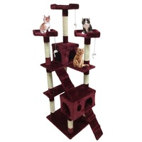 Cat'S Tree Scratcher Pet Scratching Post Pet Protect Activity Centre Cat's Tree House Pets Playing Climbing Post Toys Furniture