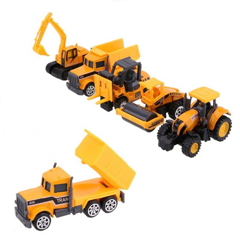 2018 New Arrival 5Pcs/Set 1:64 Kidss Scale Machines Model Car Sets Toy Cars Mini Alloy Metal Vehicle Cars Kids Children Toy