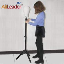 Alileader Hot Selling  Wig Stand Mannequin Tripod Stronger Training Mannequin Head Stand For Wigs Wig Head Stand Wig Making Kit
