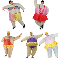 Onesie Promotion 2017 Newest Inflatable Ballet Costume Halloween Party Funny Fat Man Ballet Fancy Dress For