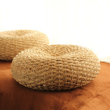 Handmade Straw Braids Meditation Cushion Yoga Japanese Seat Cushions Tatami Futon