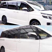 JY 8 sztuk SUS304 ze stali nierdzewnej wykończenia okna niższe Car Styling pokrywa akcesoria dla Toyota NOAH/VOXY 2014  2017 w Markizy i zadaszenia od Samochody i motocykle na