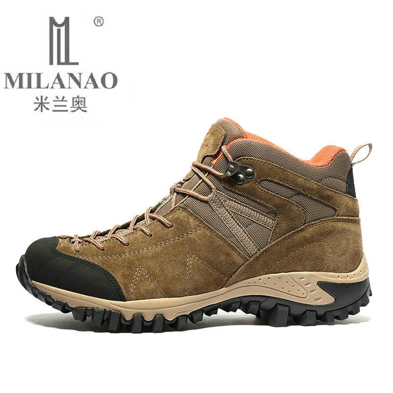 Prix pour 2017 MILANAO Randonnée Bottes haute pour Homme Respirant Montagne Escalade En Plein Air Chaussures haute qualité Combat bottes sneakers 39-45