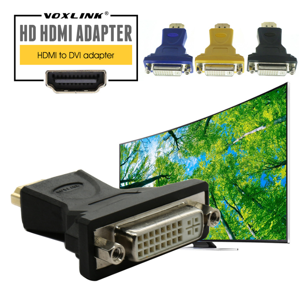 VOXLINK HDMI Male to DVI-I(24+1) /DVI-D(24+5) Female Converter Adapter Gold Plated HDMI to DVI Adapter For HDTV combo hdmi female to dvi 24 5 male adapter w hdmi cable plastic copper