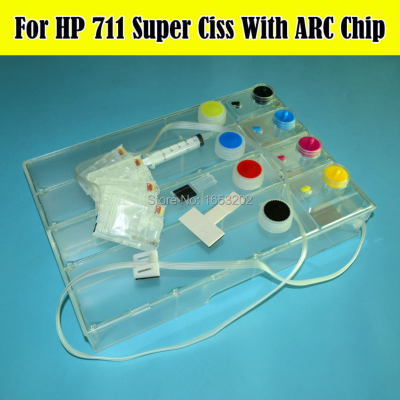 1 Set Empty DIY 36/24 inch HP711 CISS Continuous Ink Supply System For HP 711 For HP Designjet T120 T520 Printers hp designjet t120