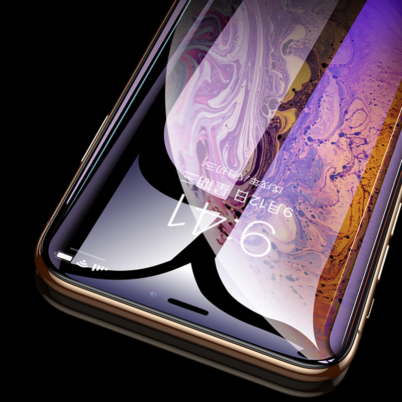 9H Curved Edge Full Cover Phone Screen Protector For iPhone 7 6 6S 8 Plus Tempered Glass On iPhone X XS Max XR Protective Glass in Phone Screen Protectors from Cellphones Telecommunications