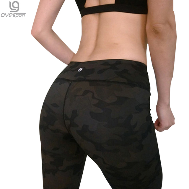 Army Green Camouflage Sporting Women's Leggings Sexy Printed Elastic Slim Quick Dry Pants Fitness Leggings LadiesTrousers