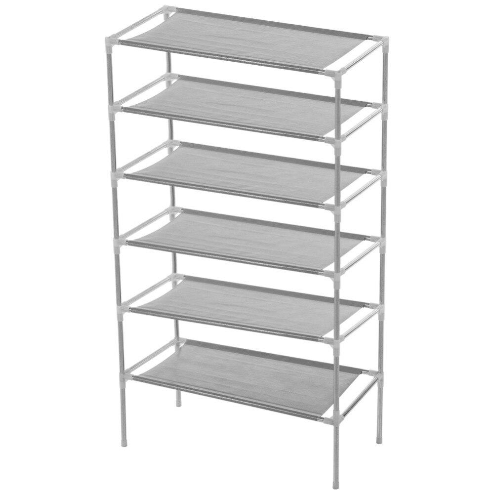 White PVC Carving Shoe Rack Shelf Storage Home Organizer 3/4/5 Tier ...