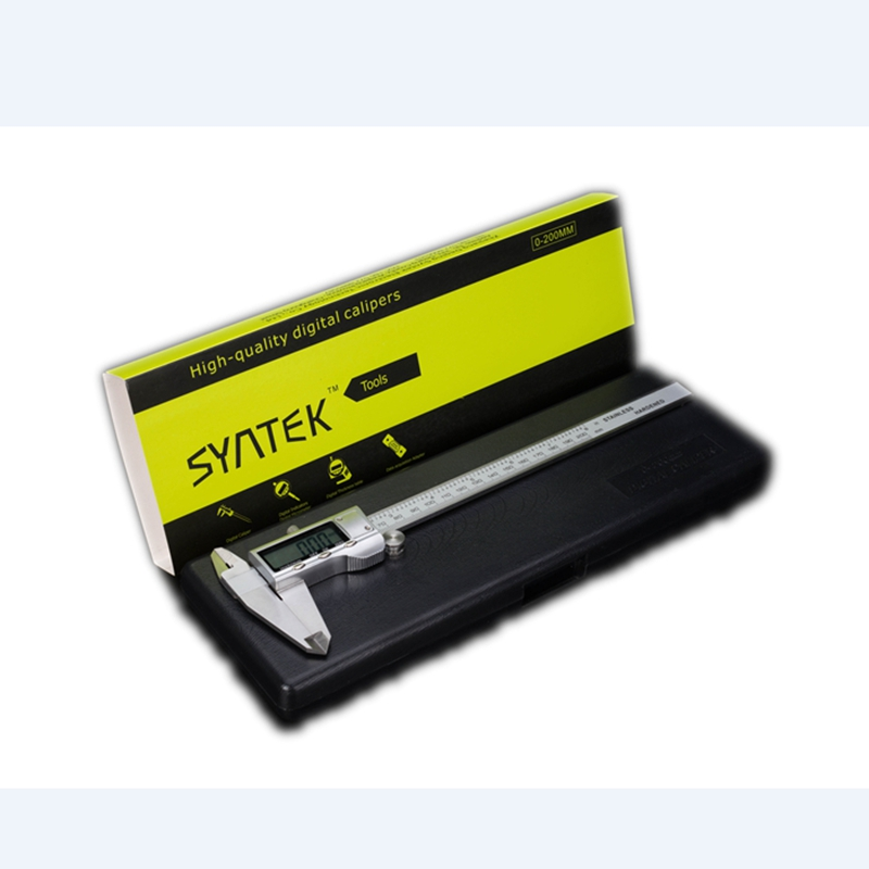 """200mm Metalowy elektroniczny suwmiarka cyfrowa 8 """"Big LCD Cal / mm Linijka Narzędzia do pomiaru drewna wewnątrz Mikrometr Gauge"""