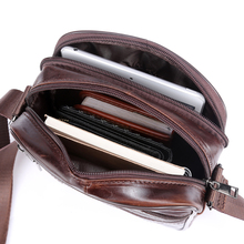 Small messenger bag men women shoulder bag genuine leather bag