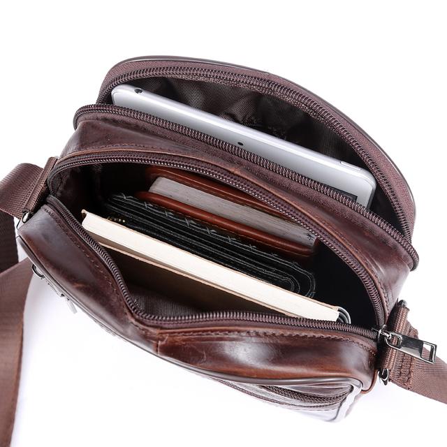 Small messenger bag men women shoulder bag genuine leather bag