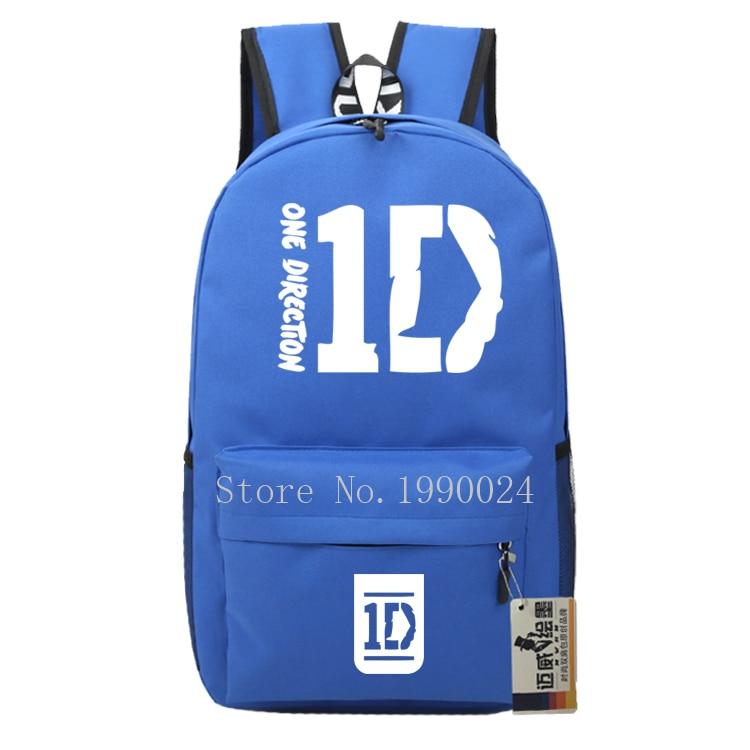 7195906a92 Teenagers One Direction 1D Bags Boy Girl Cartoon Backpacks Oxford Kids  Backpack Children Bagpack Travel Bags Mochila Feminina-in Backpacks from  Luggage ...