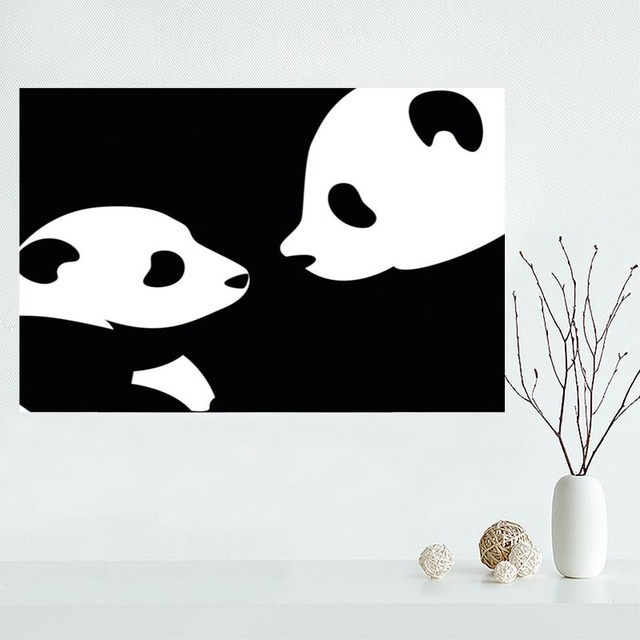 Us 353 16 Offładny Klienta Panda Zwierzęta Plakat Na Płótnie Malarstwo Wall Art Silk Plakat Tkanina Druku Diy Tkaniny Plakat Y2 W ładny