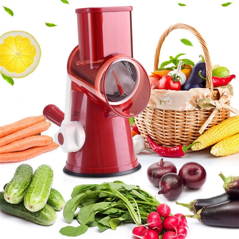 VOGVIGO Manuel Mandoline trancheuse en acier inoxydable légumes fruits trancheuse multifonctionnel hachoir à viande râpe pour outils de cuisine