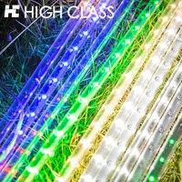 אורות עץ חג המולד 2017 דגם חדש שמש דקורטיבי קו אור מטאור מקלחת מטאור אורות חיצוני פרק תאורה עמיד למים