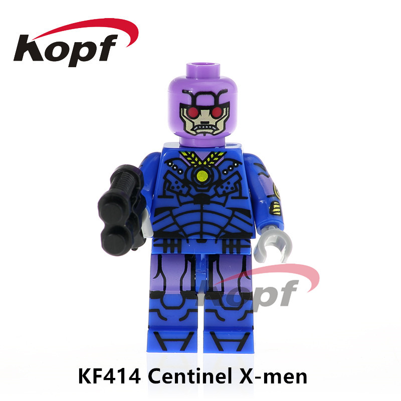 Single Sale Super Heroes Centinel X-Men Annabelle Sandman Bricks Action Building Blocks Collection Toys for children Gift KF414 single sale super heroes nya gamma master wu gnea pythor kozu zane ninja 71019 building blocks bricks toys for children pg8070