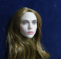 1:6 Scale Villa Coffee Hair Pale Head Model For 12 Female Figure Body for collection action figure accessories for 1/6 body