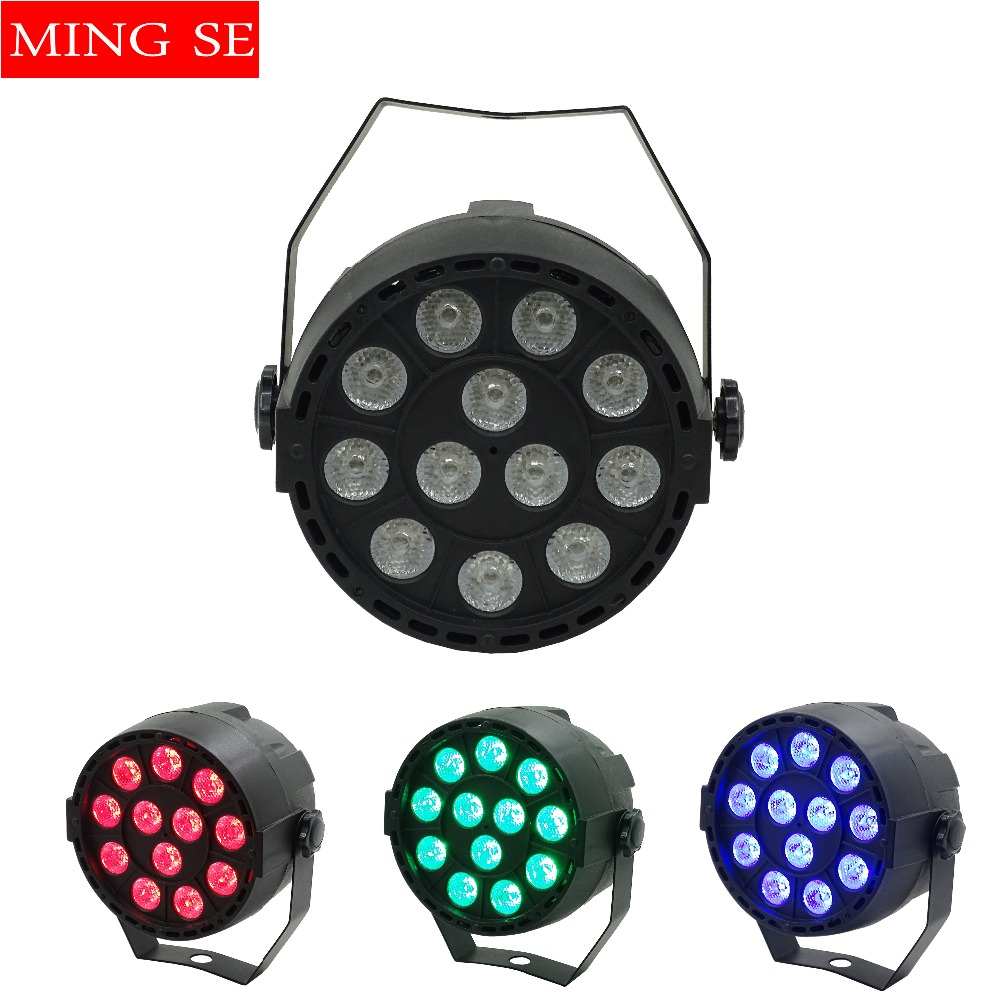 12x3W Mini <font><b>LED</b></font> <font><b>Par</b></font> <font><b>RGB</b></font> 3in1 <font><b>LED</b></font> Stage Light <font><b>12</b></font>*3W <font><b>Par</b></font> Light 3in1 Wall Wash Light For Bar KTV Party Stage Lighting image
