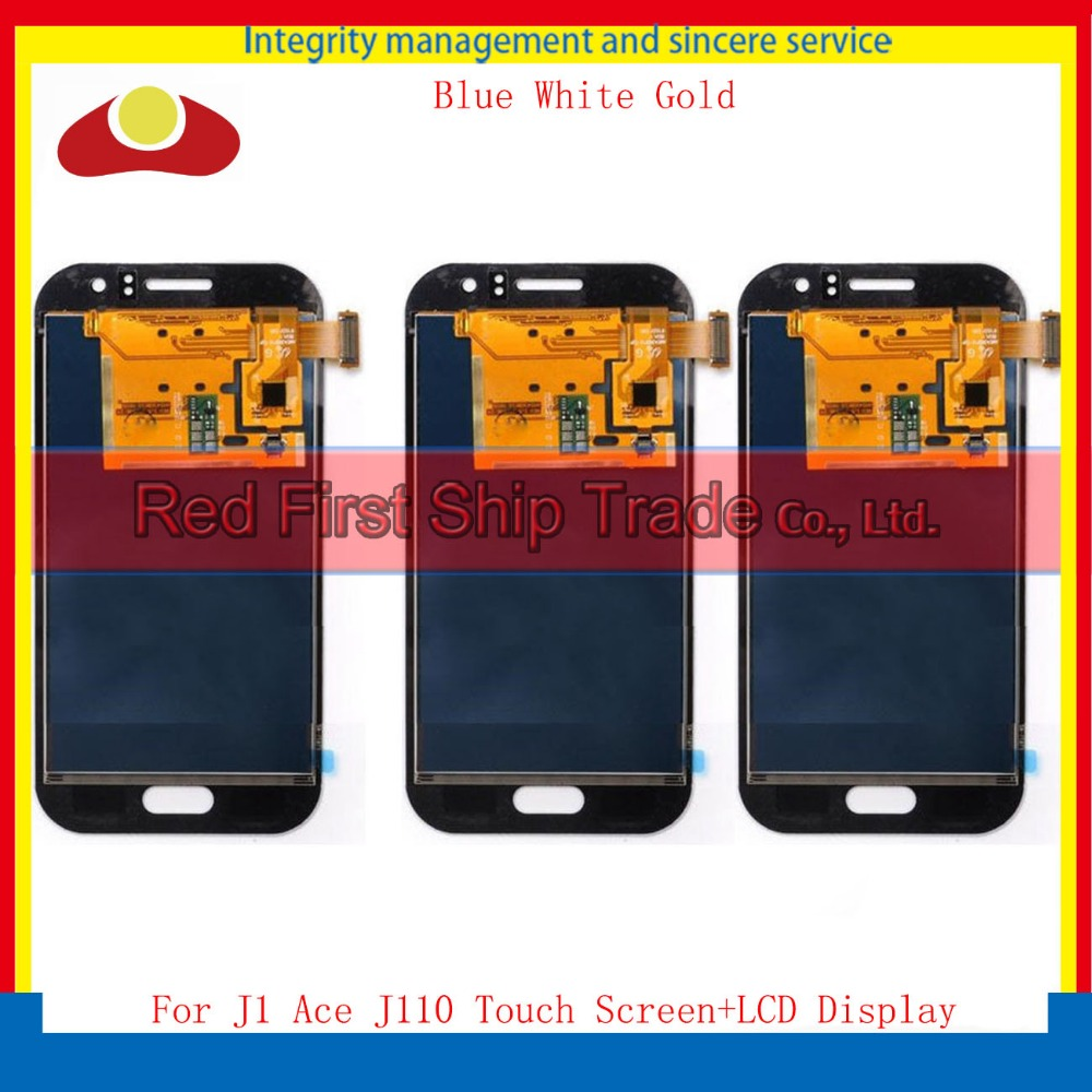 4.3 For Samsung Galaxy J1 Ace Sm-J110 J110 Full Lcd Display Touch Screen Digitizer Sensor Assembly Complete Blue White Gold brand new for samsung j1 lcd display with touch screen digitizer for samsung galaxy j1 j120f j120m j120h sm j120f lcd 3 color