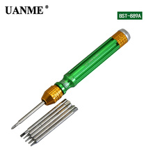 UANME 1Piece 6 in 1 Magnetic Screwdriver For iPhone 7 Repair Tools 2.0 Slotted T3 T4 T5 T6 2.0Phillips Cross