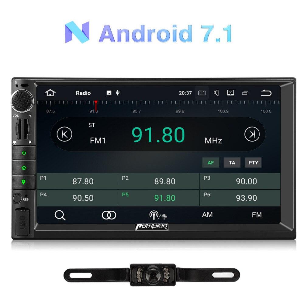 Citrouille 2 Din 7 ''Android 7.1 Universel autoradio Pas lecteur dvd navigation gps Quad-Core Voiture Stéréo DAB + 4G Wifi OBD2 Headunit