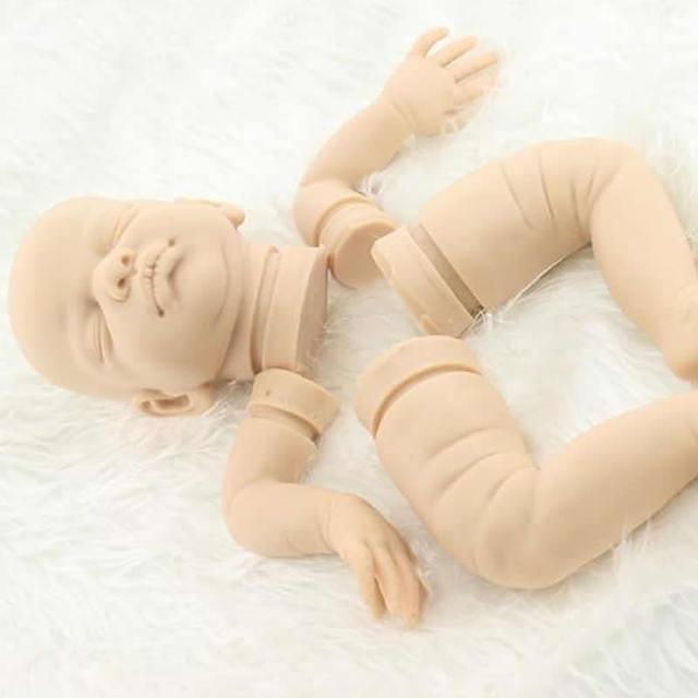 20นิ้วจริงแข็งนุ่มมากซิลิโคนRebornเด็กตุ๊กตาชุดชิ้นส่วนสำหรับที่ทำด้วยมือซิลิโคนRebornเด็กตุ๊กตาชุด
