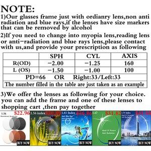 Image 3 - AL MG مشهد إطار نظارات الرجال الكمبيوتر النظارات البصرية إطار للذكور شفافة واضحة عدسة Armacao دي RS276