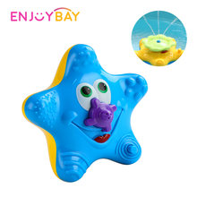 Enjoybay Electronic Water Spray Bath Toy Cute Starfish Rotary Bathing Toy Interactive Educational Bathroom Tub Doll for Kids(China)