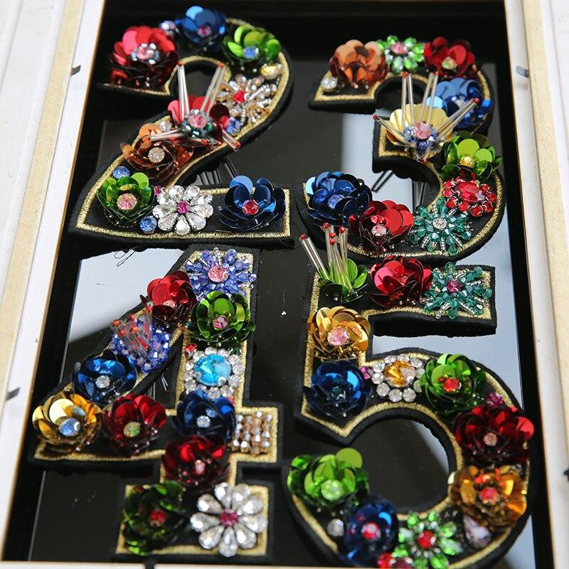 Pastilles perlées en strass 3D faites à la main | Pour vêtements, bricolage, coudre sur motif de fleurs, paillettes appliquées, patch décoratif, Parches florales