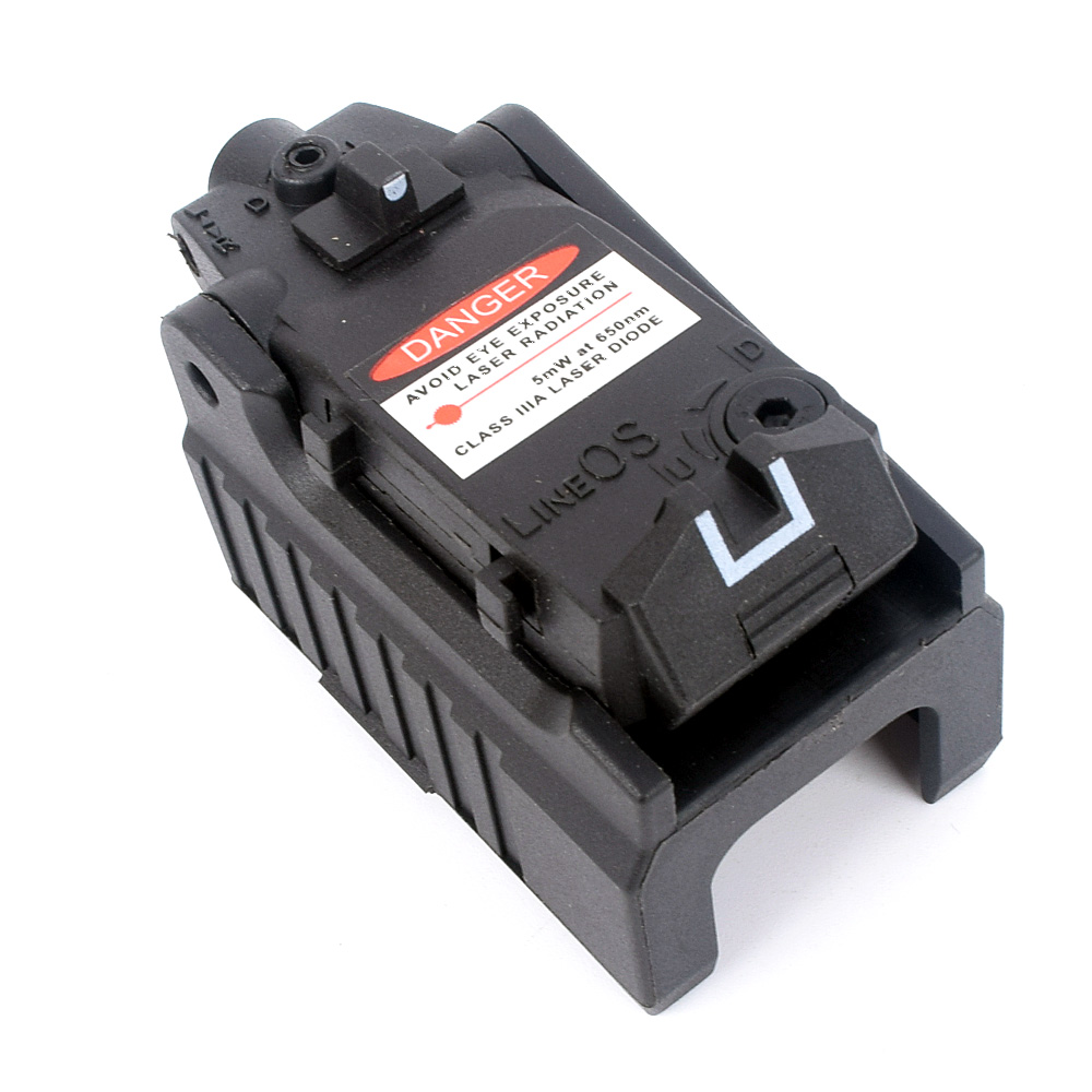 WIPSON Tactical Glock Laser Sight Rear Red Laser Aiming Fit Airsoft Glock 17 18C 19 22 23 25 26 27 28 31 32 33 34 35 37-5