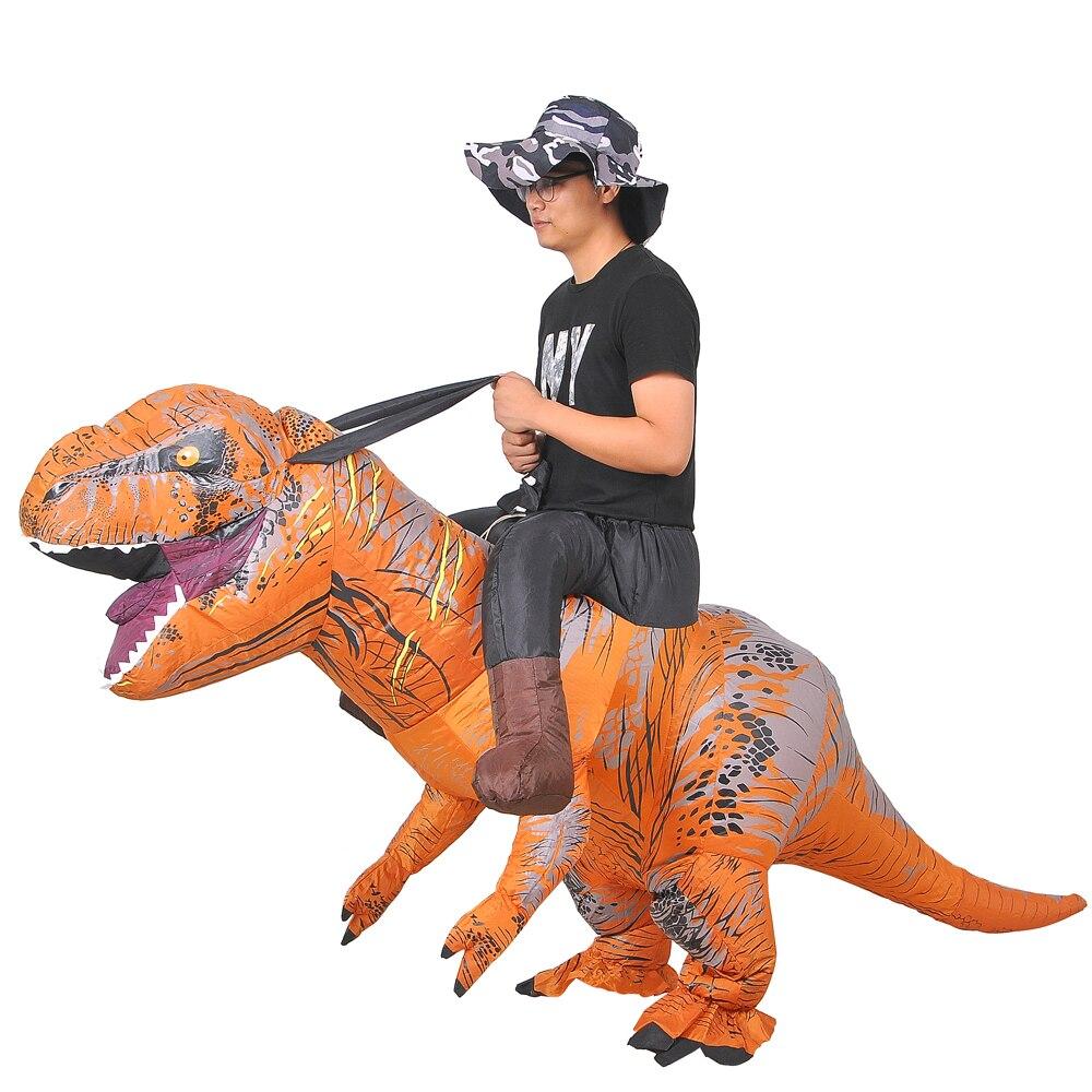 T REX Inflatable Costume Christmas Cosplay Carnival Halloween Costume for Women Premium Dinosaur Animal Adult Dress