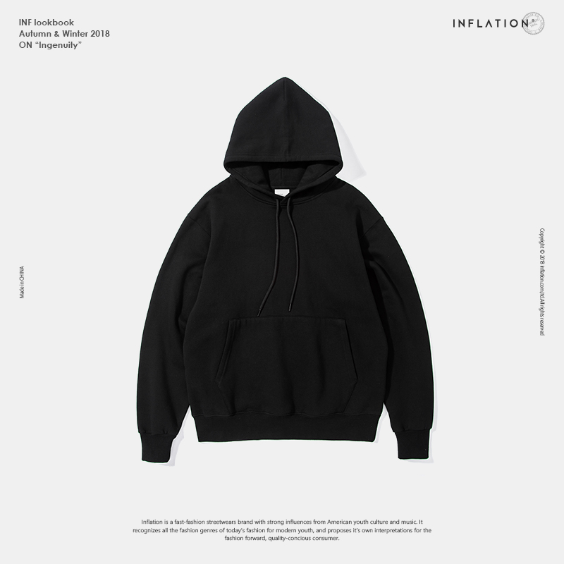 5821ff4bd INFLATION 2019 Autumn Mens Thick Fleece Hoodies Hip Hop Pure Hoodies Thick  Velvet Fabrics Winter Hoodies For Men Women 167W17-in Hoodies & Sweatshirts  from ...