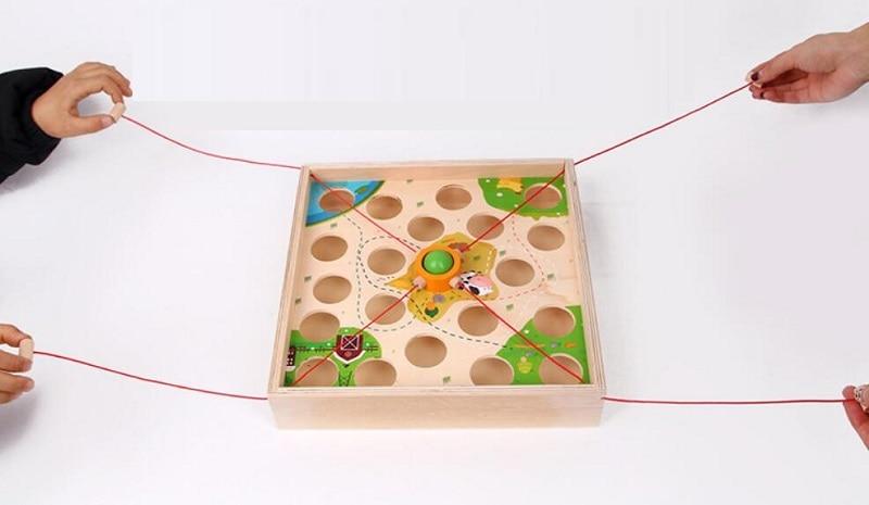 Creative Wooden Ball Maze Game 5