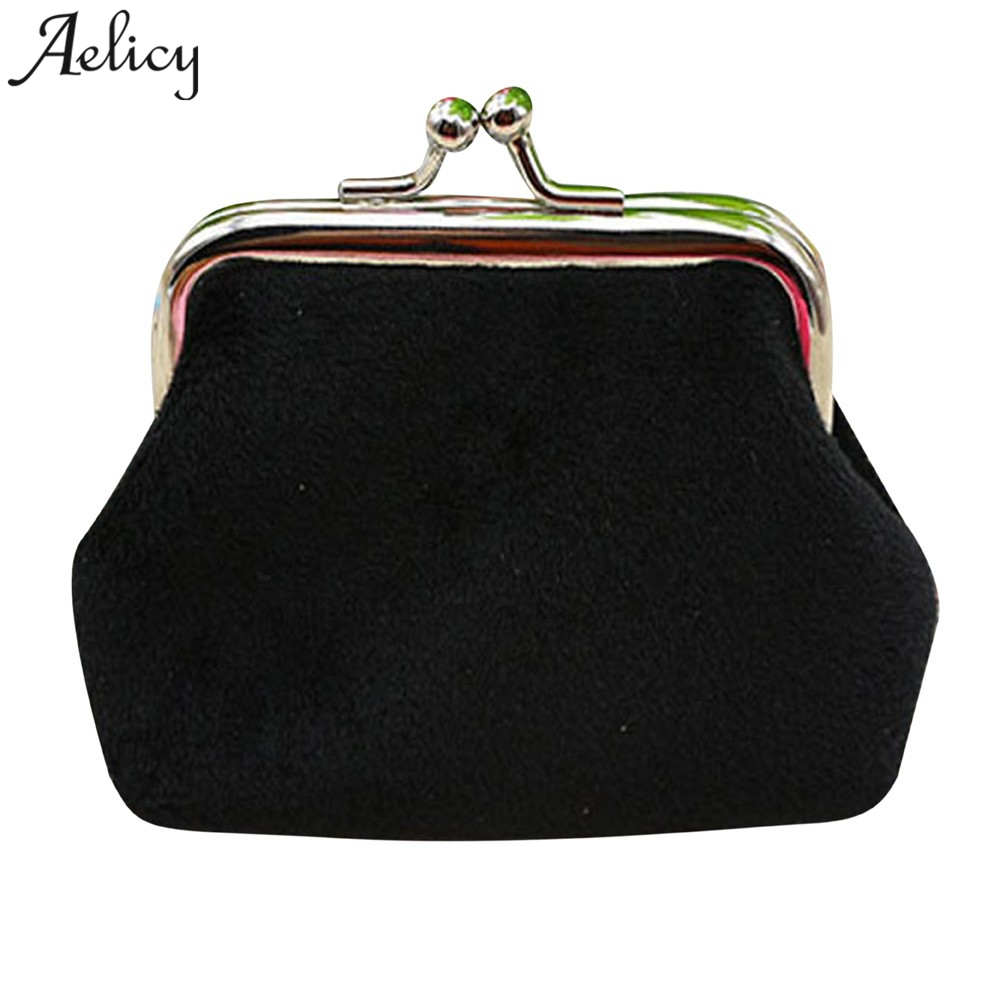 Aelicy High Quality Candy Color Printing Women Coin Purse Womens Corduroy Small Wallet Holder Coin Purse Clutch Handbag Bag стоимость