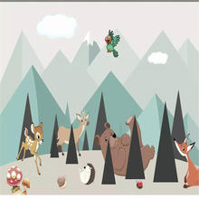 Индивидуальные 3d обои росписи мультфильм детская комната фон