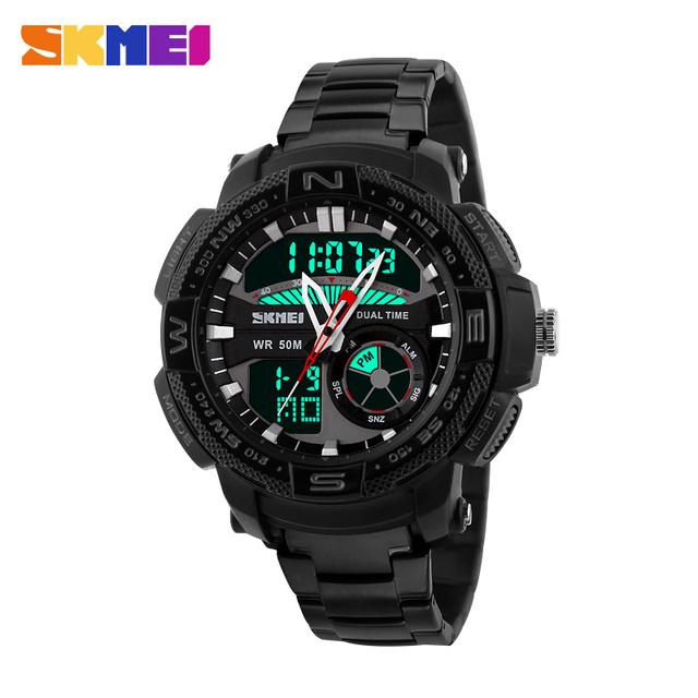 2017 Hombres Deportes Relojes Moda Casual Impermeable Reloj de Cuarzo Analógico y Digital Militar Multifuncional Relojes Deportivos para hombres